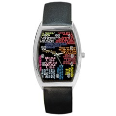 Panic At The Disco Northern Downpour Lyrics Metrolyrics Barrel Style Metal Watch by Onesevenart