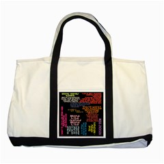 Panic At The Disco Northern Downpour Lyrics Metrolyrics Two Tone Tote Bag by Onesevenart