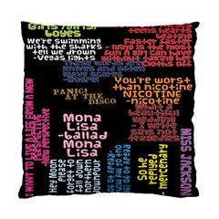 Panic At The Disco Northern Downpour Lyrics Metrolyrics Standard Cushion Case (two Sides) by Onesevenart