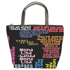 Panic At The Disco Northern Downpour Lyrics Metrolyrics Bucket Bags by Onesevenart