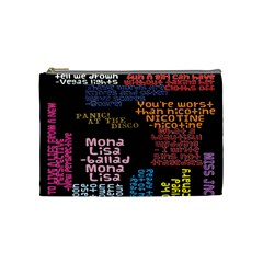 Panic At The Disco Northern Downpour Lyrics Metrolyrics Cosmetic Bag (medium)  by Onesevenart