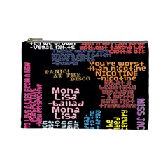 Panic At The Disco Northern Downpour Lyrics Metrolyrics Cosmetic Bag (large)  by Onesevenart