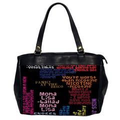Panic At The Disco Northern Downpour Lyrics Metrolyrics Office Handbags by Onesevenart