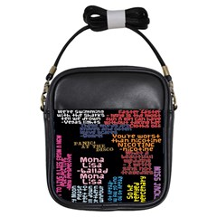 Panic At The Disco Northern Downpour Lyrics Metrolyrics Girls Sling Bags by Onesevenart