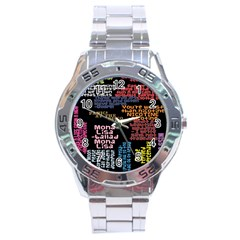 Panic At The Disco Northern Downpour Lyrics Metrolyrics Stainless Steel Analogue Watch by Onesevenart