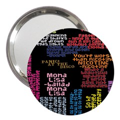 Panic At The Disco Northern Downpour Lyrics Metrolyrics 3  Handbag Mirrors by Onesevenart