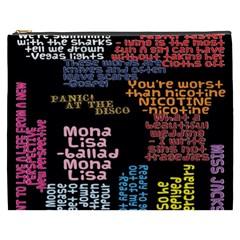 Panic At The Disco Northern Downpour Lyrics Metrolyrics Cosmetic Bag (xxxl)  by Onesevenart
