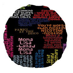 Panic At The Disco Northern Downpour Lyrics Metrolyrics Large 18  Premium Round Cushions by Onesevenart