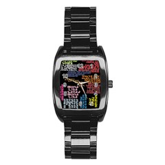 Panic At The Disco Northern Downpour Lyrics Metrolyrics Stainless Steel Barrel Watch by Onesevenart