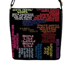 Panic At The Disco Northern Downpour Lyrics Metrolyrics Flap Messenger Bag (l)  by Onesevenart