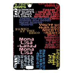 Panic At The Disco Northern Downpour Lyrics Metrolyrics Kindle Fire Hdx Hardshell Case by Onesevenart