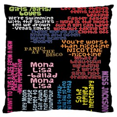 Panic At The Disco Northern Downpour Lyrics Metrolyrics Large Flano Cushion Case (two Sides) by Onesevenart