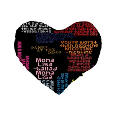 Panic At The Disco Northern Downpour Lyrics Metrolyrics Standard 16  Premium Flano Heart Shape Cushions by Onesevenart