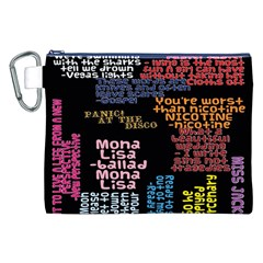 Panic At The Disco Northern Downpour Lyrics Metrolyrics Canvas Cosmetic Bag (xxl) by Onesevenart