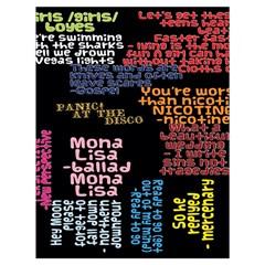 Panic At The Disco Northern Downpour Lyrics Metrolyrics Drawstring Bag (large) by Onesevenart