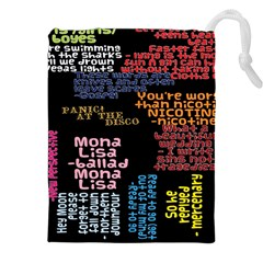 Panic At The Disco Northern Downpour Lyrics Metrolyrics Drawstring Pouches (xxl) by Onesevenart