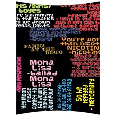 Panic At The Disco Northern Downpour Lyrics Metrolyrics Back Support Cushion by Onesevenart