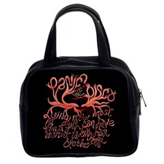 Panic At The Disco   Lying Is The Most Fun A Girl Have Without Taking Her Clothes Classic Handbags (2 Sides) by Onesevenart