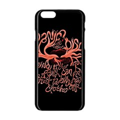 Panic At The Disco   Lying Is The Most Fun A Girl Have Without Taking Her Clothes Apple Iphone 6/6s Black Enamel Case by Onesevenart