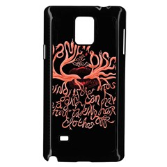 Panic At The Disco   Lying Is The Most Fun A Girl Have Without Taking Her Clothes Samsung Galaxy Note 4 Case (black) by Onesevenart