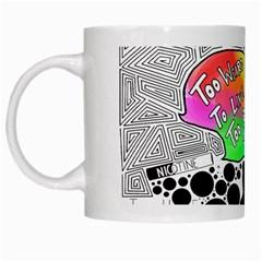Panic ! At The Disco White Mugs by Onesevenart
