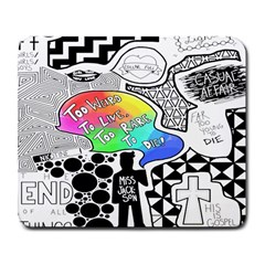 Panic ! At The Disco Large Mousepads by Onesevenart