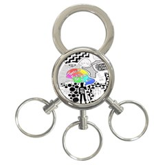 Panic ! At The Disco 3 Ring Key Chains by Onesevenart