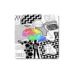 Panic ! At The Disco Square Magnet by Onesevenart