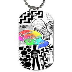 Panic ! At The Disco Dog Tag (one Side) by Onesevenart