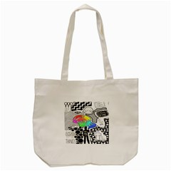Panic ! At The Disco Tote Bag (cream) by Onesevenart