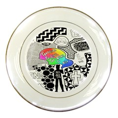 Panic ! At The Disco Porcelain Plates by Onesevenart