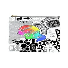 Panic ! At The Disco Cosmetic Bag (large)  by Onesevenart