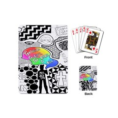 Panic ! At The Disco Playing Cards (mini)  by Onesevenart