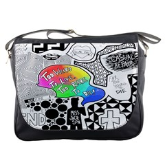 Panic ! At The Disco Messenger Bags by Onesevenart