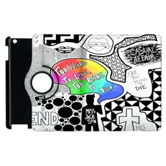 Panic ! At The Disco Apple Ipad 3/4 Flip 360 Case by Onesevenart
