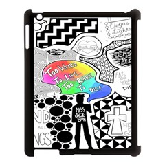 Panic ! At The Disco Apple Ipad 3/4 Case (black) by Onesevenart
