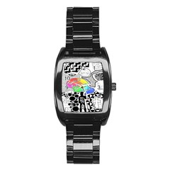 Panic ! At The Disco Stainless Steel Barrel Watch by Onesevenart