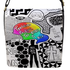 Panic ! At The Disco Flap Messenger Bag (s) by Onesevenart