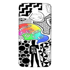 Panic ! At The Disco Samsung Galaxy S5 Back Case (white) by Onesevenart