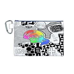 Panic ! At The Disco Canvas Cosmetic Bag (m) by Onesevenart
