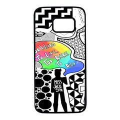 Panic ! At The Disco Samsung Galaxy S7 Black Seamless Case by Onesevenart