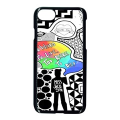 Panic ! At The Disco Apple Iphone 7 Seamless Case (black) by Onesevenart