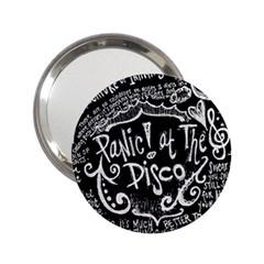 Panic ! At The Disco Lyric Quotes 2 25  Handbag Mirrors by Onesevenart