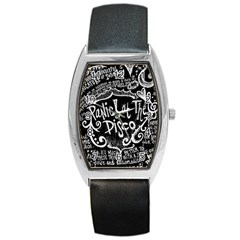 Panic ! At The Disco Lyric Quotes Barrel Style Metal Watch by Onesevenart