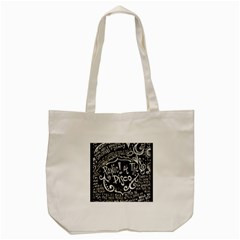 Panic ! At The Disco Lyric Quotes Tote Bag (cream) by Onesevenart