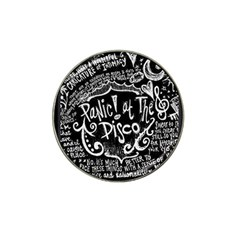 Panic ! At The Disco Lyric Quotes Hat Clip Ball Marker by Onesevenart