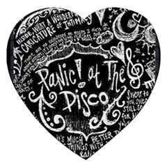 Panic ! At The Disco Lyric Quotes Jigsaw Puzzle (heart) by Onesevenart