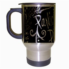Panic ! At The Disco Lyric Quotes Travel Mug (silver Gray) by Onesevenart