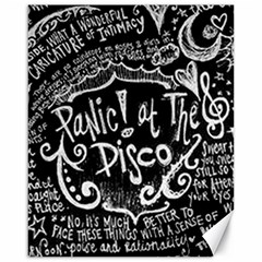Panic ! At The Disco Lyric Quotes Canvas 16  X 20   by Onesevenart