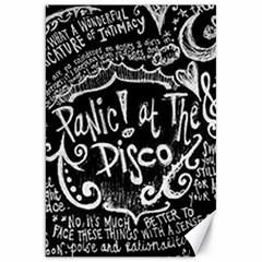 Panic ! At The Disco Lyric Quotes Canvas 20  X 30   by Onesevenart